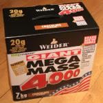 Produkttest: Weider Giant Mega Mass 4000 (Weight Gainer)