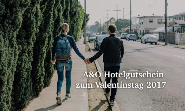 Valentins-Special: A&O Hotelgutschein für 3 Tage für Päarchen nur 79€